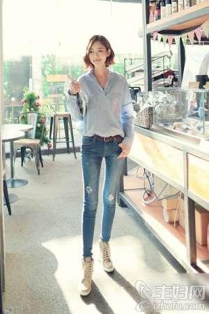 资讯生活上班族夏季穿衣搭配 衬衫+牛仔裤知性又帅气